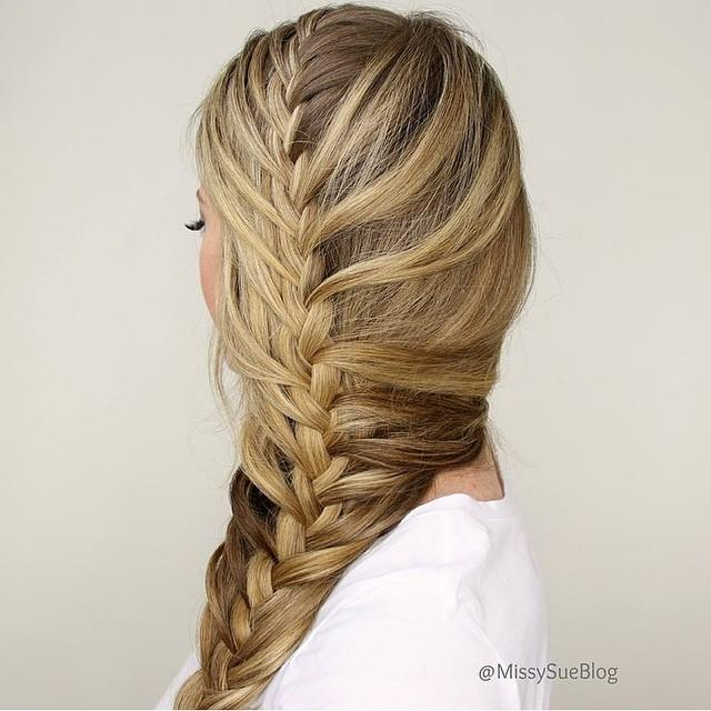 mermaid side braid