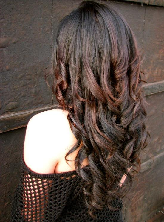 dark brown curls