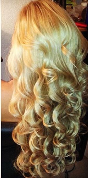 golden blonde curls