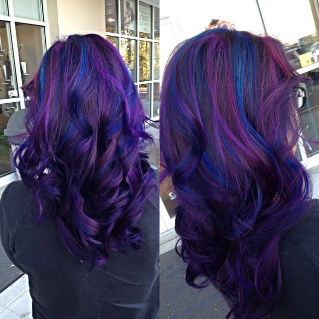 purple blue hair colors