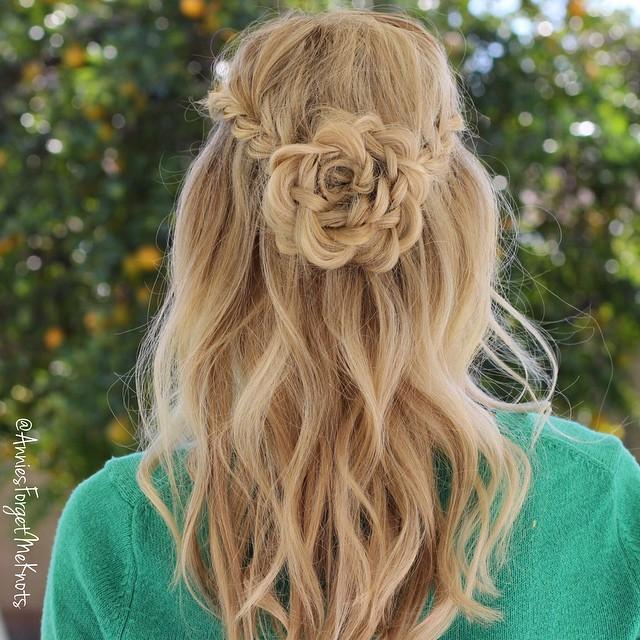 rsose flower braid