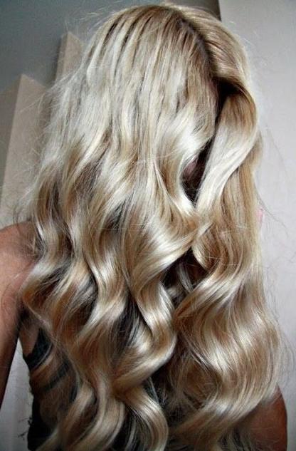 soft blonde curls