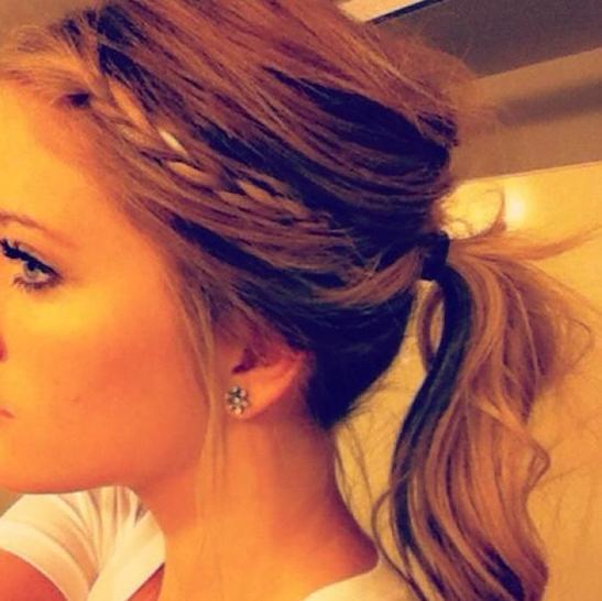 crown braid & ponytail