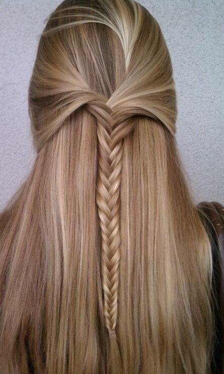 half up braided hair
