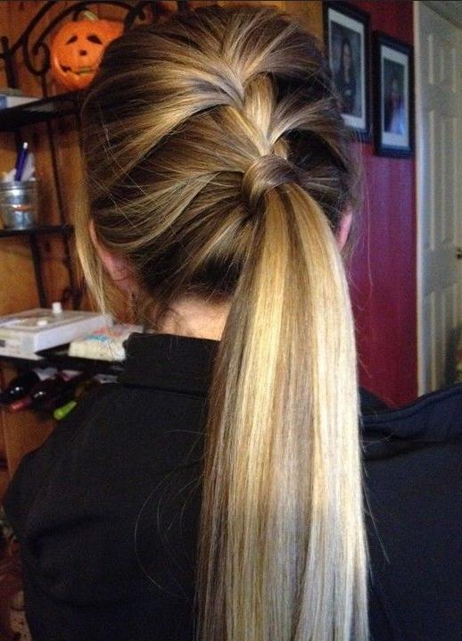 lace braid & ponytail