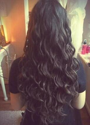 long black wavy curls