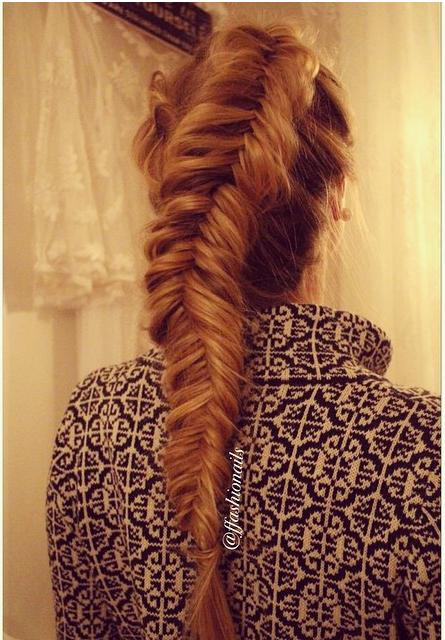 messy dutch fishtail braid