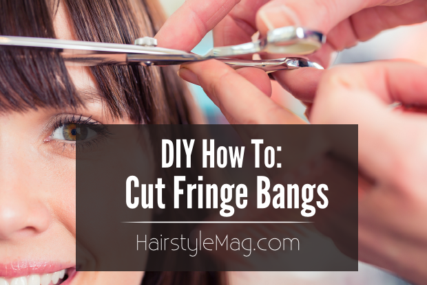 DIY How To Cut Fringe Bangs