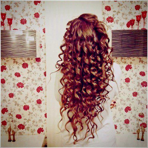 auburn ringlet curls
