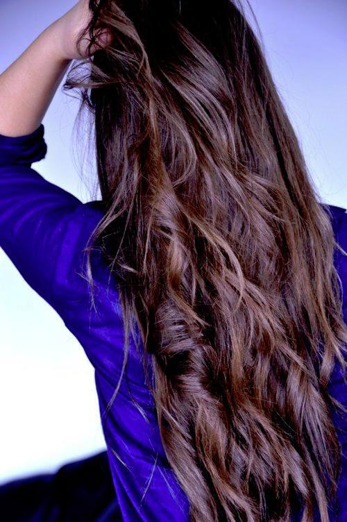 long messy brown hair
