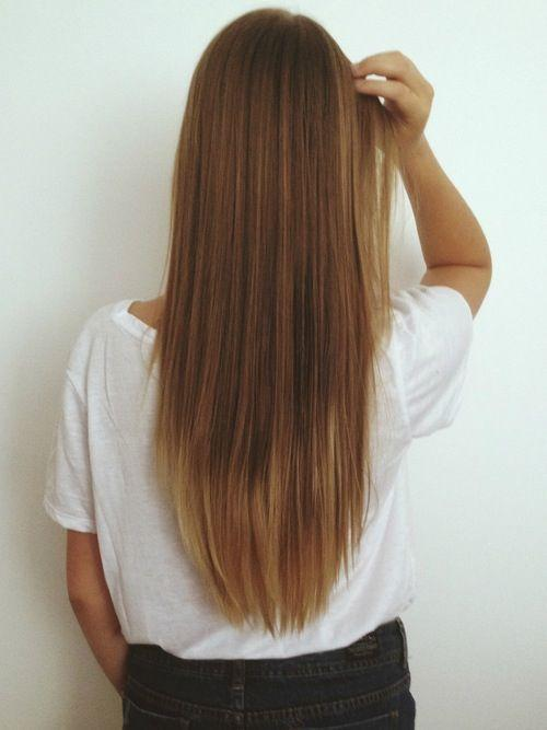long brown hair tips