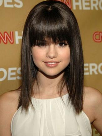 Your bangs should look something like this!