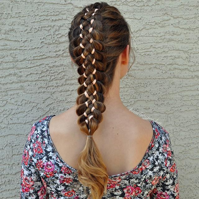 seven strand ribbon braid
