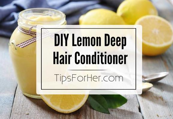 DIY Lemon Deep Hair Conditioner
