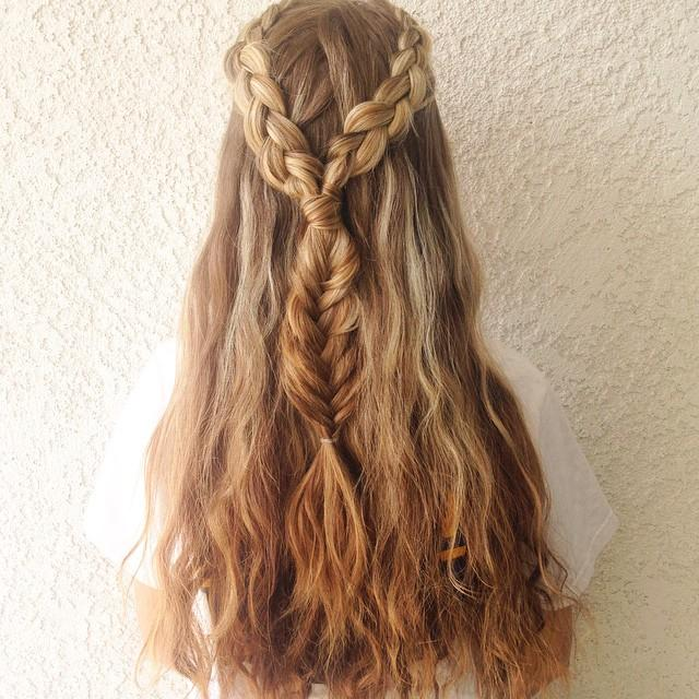 dutch braids into fishtail
