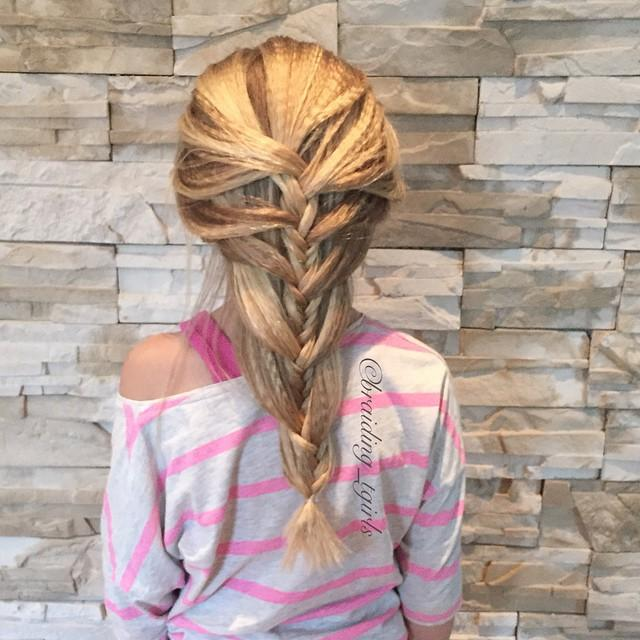 loose fishtail mermaid braid