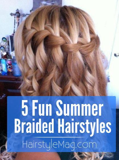 5 fun summer braided hairstyles