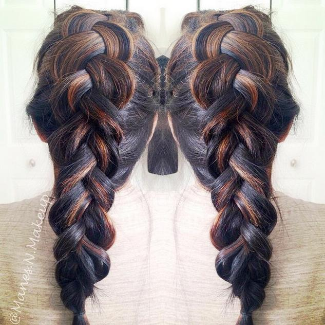 beautiful dutch braid