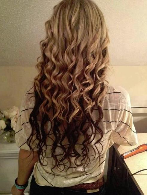 blonde curls with brown underneath