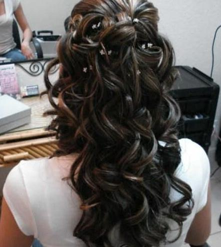 brunette bridal curls