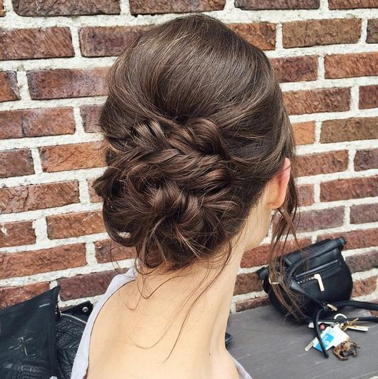 fishtail bridal updo