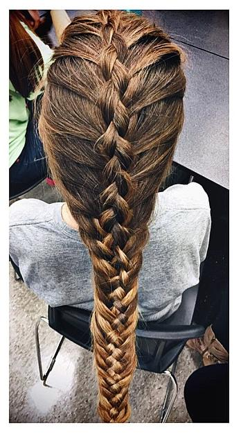 french woven fishtail