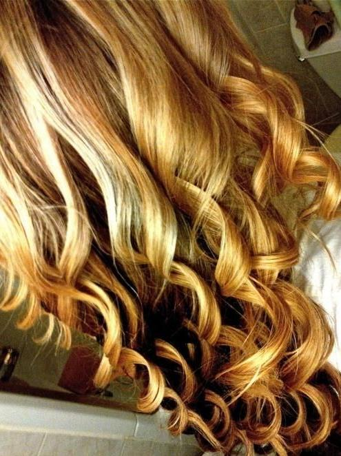long blonde spiral curls