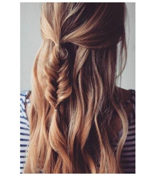mini half up fishtail