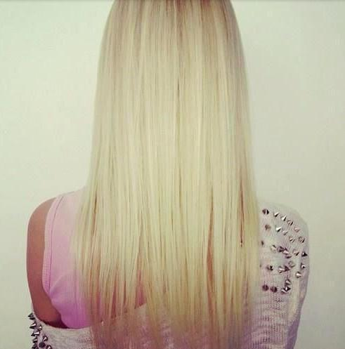 straight light blonde hair