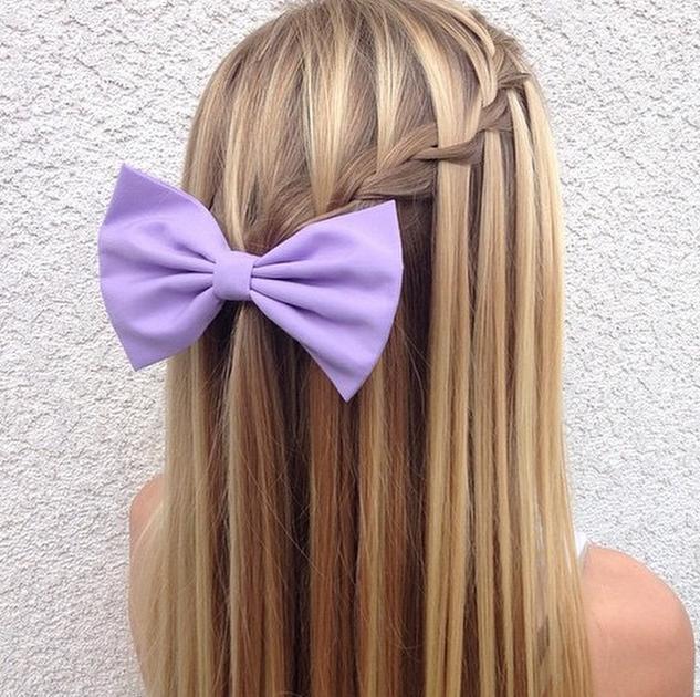waterfall braid & bow