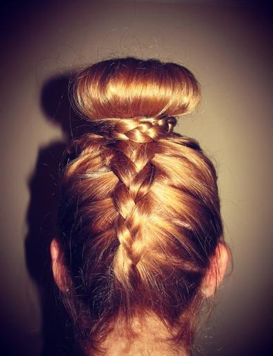 braid into a bun