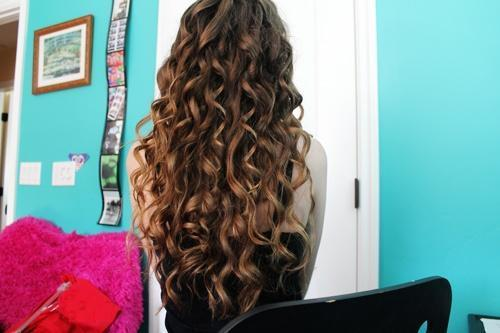 long messy brown curls