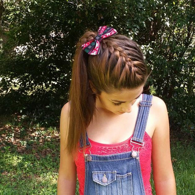 Fantastic French Braid Into High Ponytail Borbotta Com Short Hairstyles For Black Women Fulllsitofus