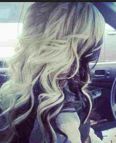 platinum blonde purple streaks