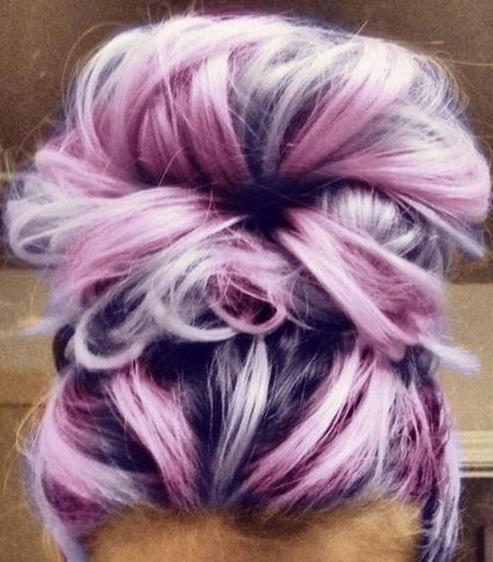 pink & lavender highlights