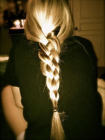 plaited braided hair