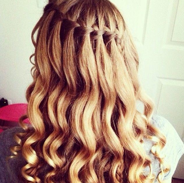 waterfall braid curls