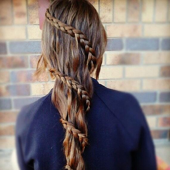 wrap around braided hair
