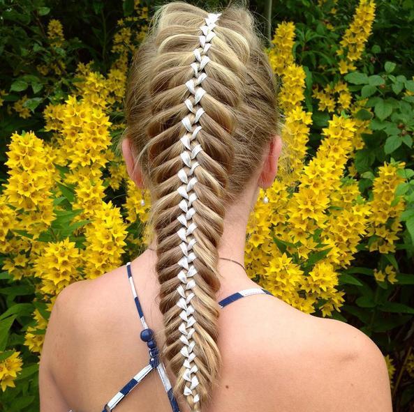 Woven Fishtail Ribbon Braid