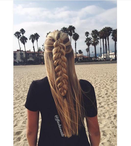 beachy braid ffashionails