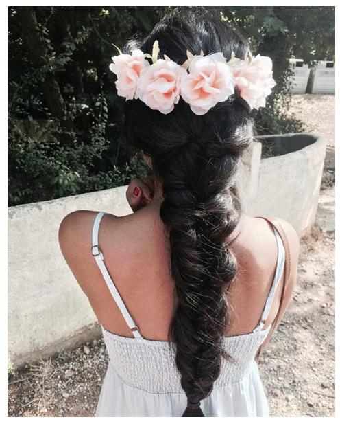 braid flower crown @melodyofsilnce