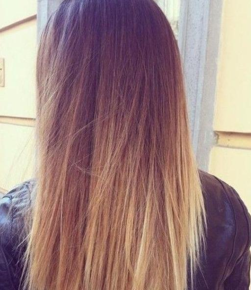 pretty ombre dip dye hair