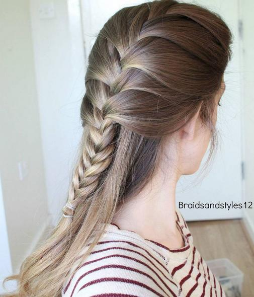 simple half down braid combo