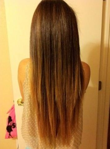 ombre highlights straight hair subtle layers