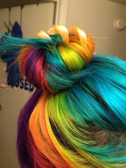 rainbow bun