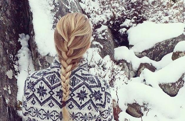 snowy winter braid