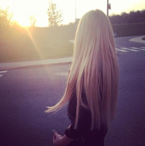 beautiful blonde hair