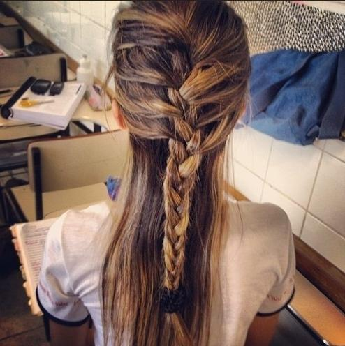 beautiful half up french braid