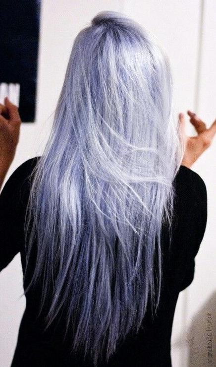 beautiful straight pastel hair color