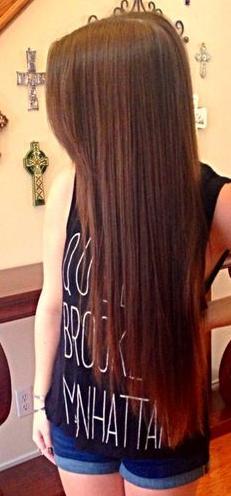 long straight brown hair